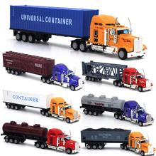 New Arrival 1:64 Alloy and Plastic Truck Toy Model Car Container Truck Chirstmas Birthday Gift for children(China)