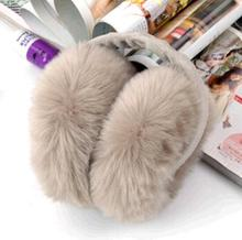 Winter earmuffs faux rabbit fox fur earmuffs plush ear multi-colored child thermal fur eamuffs cute girl cute earmuff(China)