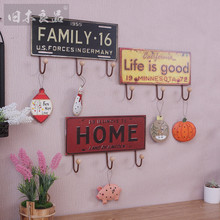 New Design Wooden Clothes Hanger Vintage Multifunction Wall Hanger Decor Sundries  Furniture Ornaments European Style