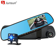 Junsun Car DVR dual camera Full HD 1080P Video Recorder Rearview Mirror With Rear view Automobile DVR Mirror Dash cam car dvrs(China)