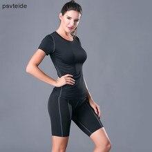 2 unidades para mujer trajes mujer conjunto deporte gimnasio Fitness  Bodybuilding mujer chándal Ropa deportiva Mujer 0f115626b3dd3