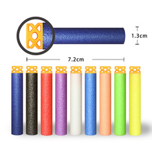 DIVERSION 50Pcs Hollow Soft Head 7.2cm Refill Darts for NF gun Series Blasters NEW STYLE Kid Toy Gun Clip EVA Bullets