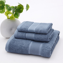 Wholesale 3 Pieces Antibacterial Bamboo Bath Towel Set Solid Towels bathroom set Face Washcloths maquiagens handkerchief(China)