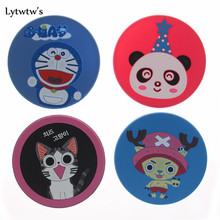 1 Piece silicone antiskid animals dining table placemat coaster kitchen accessories mat cup bar mug drink pads home bowl doilies(China)
