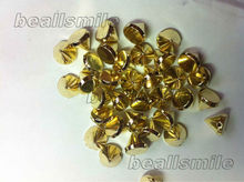 free shipping2014fashion ABSgold plastic spike studs rivets beaded hand sewing on 8mm nailhead DIYjewelry accessories 500pcs/lot