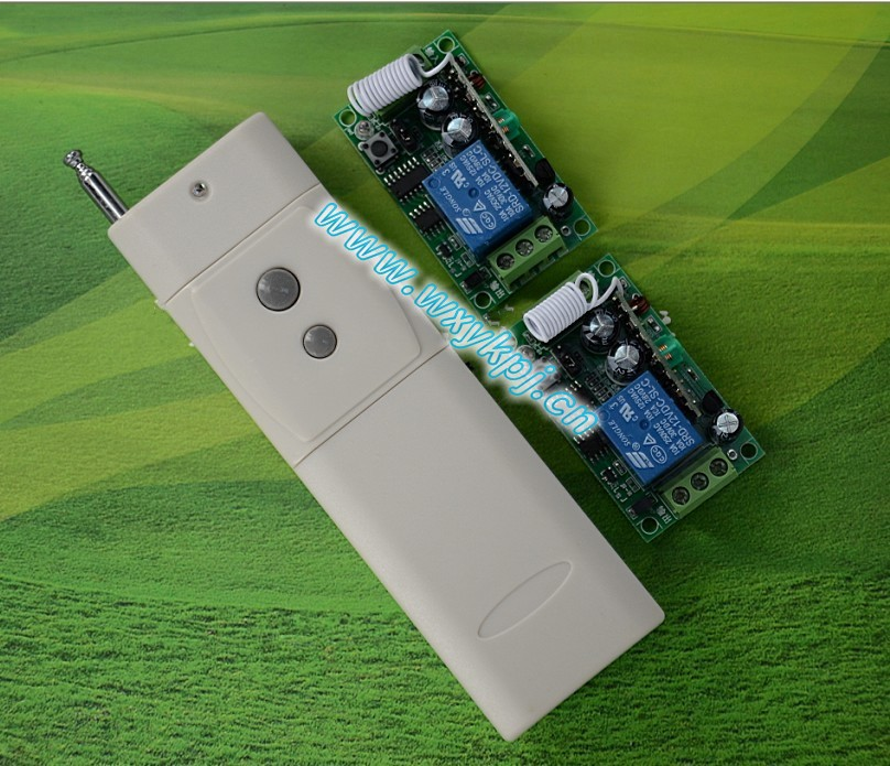 Free shipping 12V 1ch rf wireless remote control switch 315MHZ /433MHZ power transmitter &amp;2 receiver automatic sliding door<br><br>Aliexpress