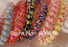 Free Shipping !! 5CM 100Pcs Colourful Hair Ring Band Accessory Hair Jewelry Findings & Components
