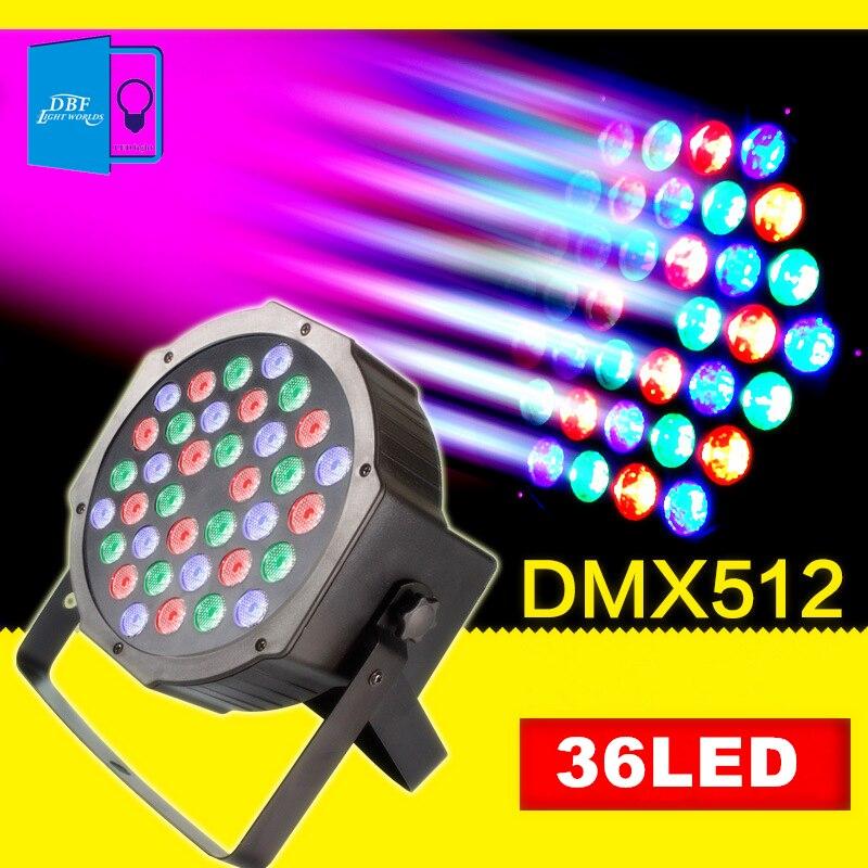 [DBF]LED Stage Lights 36 RGB PAR LED DMX Stage Lighting Effect DMX512 Master-Slave Led Flat Par lights for DJ Disco Party KTV<br>