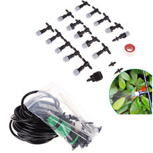 10m/30ft DIY Micro Drip Irrigation System Plant Watering Garden Hose Kits With Adjustable Dripper(China)