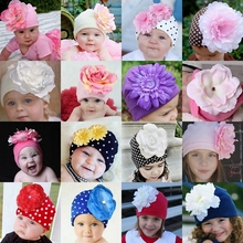 Cotton  Girls Baby Hat Crochet Handmade Photography Props,Flower Knitted Beanies,Toddler Girls Dot Baby Accessories Spring Caps