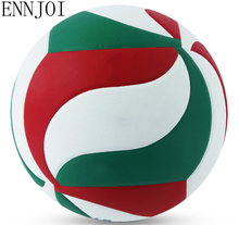 ENNJOI Hot Sale PU Leather Soft Touch High Quality Size 5 Match Quality Volleyball Ball For Indoor Training Competition Balls