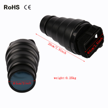 60x200mm Photography Studio Photo Conical Snoot Light Control Snoot & Honeycomb Bowens Mount for Studio Flash Strobe accesories