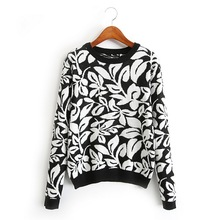 Women basic floral sweaters warm thick winter long sleeve knitted pullover femininas fashion loose tops new arrival SW872