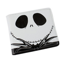 Fashion Short Wallet The Nightmary Before Christmas SKULL JACK/Doctor Who/Black Butler/Kingdom Heart Cool Cartoon student purse
