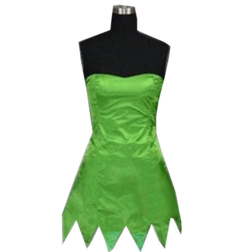 2018 Princess Tinkerbell Dress Sexy Fancy Movie Cosplay Green Fairy Pixie Adult Dresses Summer Anime Tinker Bell Dress Vestidos