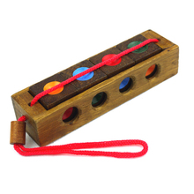 High Quality Wooden Toy Unlock Puzzle Key Classical Funny Kong Ming Lock Cube Toys Intellectual Educational For Children Adult