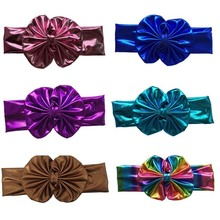 10pcs/lot Free Epacket/CPAP Metallic Messy Bow Head wraps, Jersey Knit Headwraps,Gold/Silver Knott Headband
