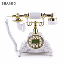 Retro Telephone Antique Telephones With Call ID Landline Phone For Office Home Living Room(China)