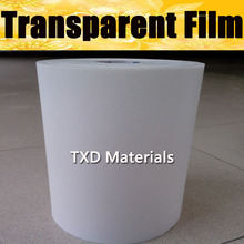 Transparent transfer film , transfer film for heat transfer printable PU film with free shipping 0.5*100m per roll