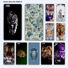 Cute Tiger Abstract Tiger on moon hard transparent phone Cover Case for huawei P9 P8 Lite P9Plus P7 Mate 9 Mate S 8 7