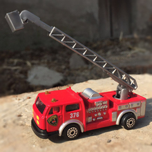 1:87 Alloy car model replica kids toys Fire truck crane truck Ladder car Children like the gift Decoration Hit(China)
