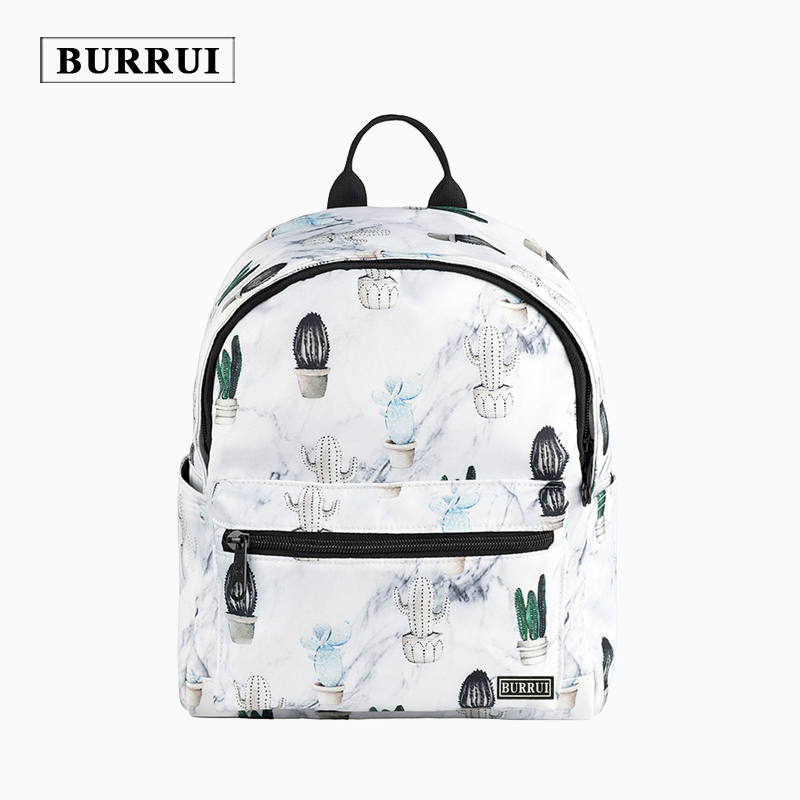 BURRUI Nylon Waterproof Backpacks Women Original Design Cactus Printing Backpacks for Teenage Girls School Bags for Kids<br>