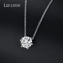 Classic Bridal Wedding Jewelry Simple Six Claw 2ct AAA CZ Diamond Necklace Rhinestone Pendant Crystal Fashion Jewelry For Women