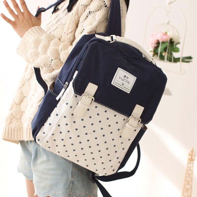 Women Canvas Backpack School bag For Girl Ladies Teenagers Casual Travel bags Schoolbag Backpack<br><br>Aliexpress