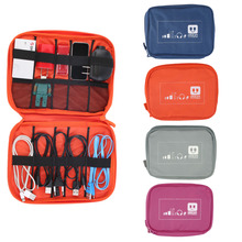 Fashion Earphone Data Cables USB Flash Drives Travel Case Digital Electronic Accessories Storage Bag Pouch