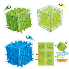 3D Mini Speed Cube Maze Magic Cube Puzzle Puzzle Game Cubos Magicos Learning Toys Labyrinth Rolling Ball Toys For Chilren Adult(China)