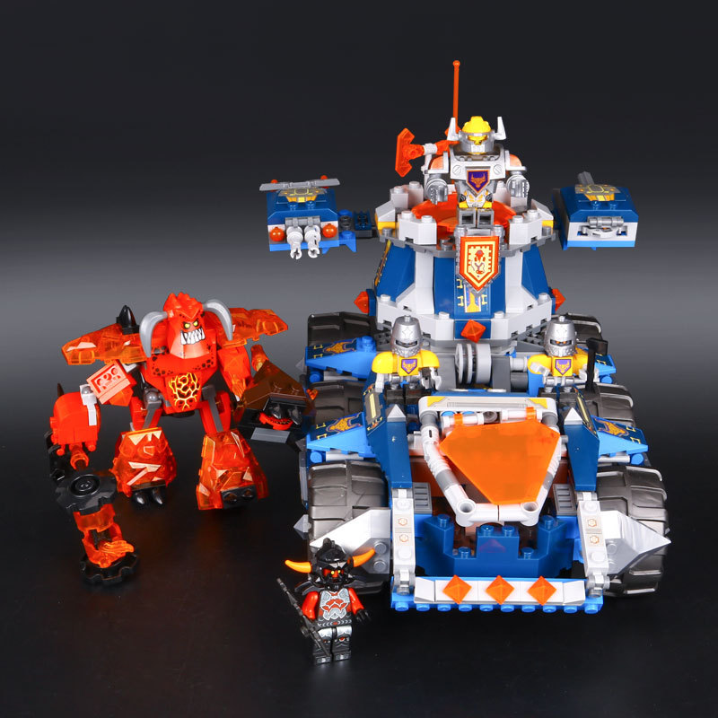 mylb Nexo Knights Axl Axls Tower Carrier Combination Marvel Building Blocks Kits Toys Compatible Nexus drop shipping<br>
