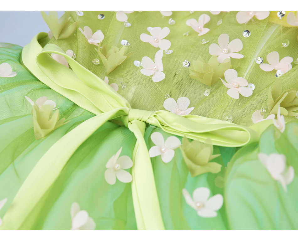 Angel Wedding Dress Marriage Bride Bridal Gown Vestido De Noiva 2017Soft powder, Qingjian Lvxian beauty, petals, green 9718 23
