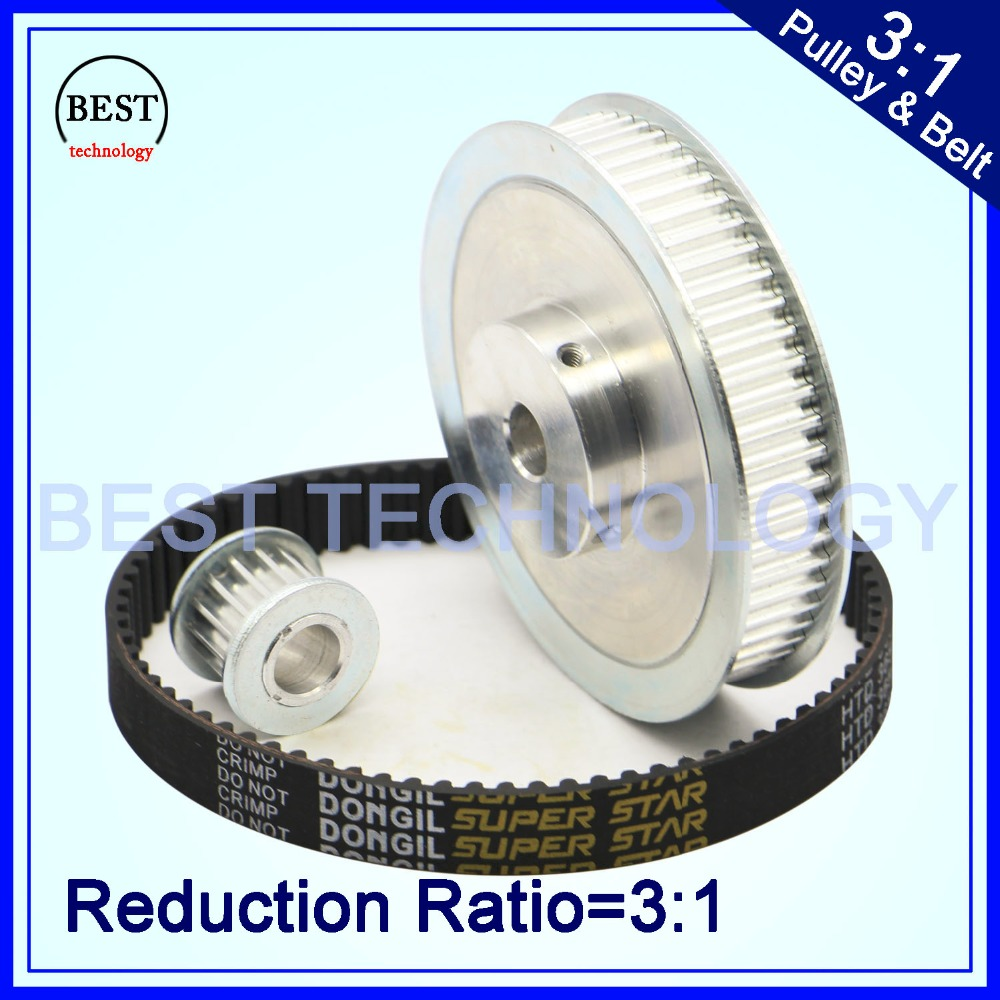 Timing Belt Pulley 5M Reduction  3:1 60teeth 20teeth  shaft center distance 80mm  Engraving machine accessories - belt gear kit<br>