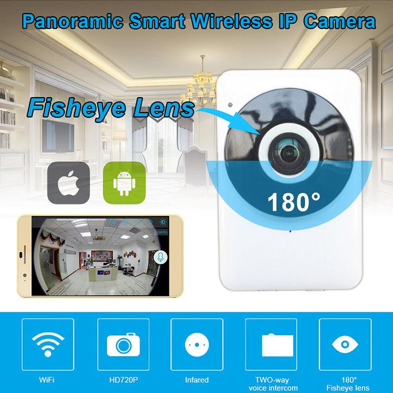 Blueskysea 720P 25fps Wireless WiFi Network IP Camera Security 1.44mm Fisheye lens Night Vision Monitor Webcam CMOS Sensor <br>