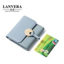 Small Women Fashion Wallet And Purse Genuine Real Leather Female Girl Zipper Short Cute Wallet Platic Card Holder Top Quality(China)