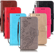 Retro Butterfly Pattern PU Leather Case For Samsung S3mini i8190 Wallet Flip Flower Phone Cover Case Protect Casing Shell Bag