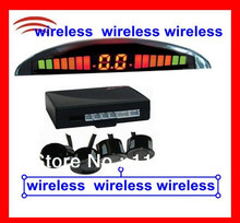 wireless parking sensor LED dispaly + 4 sensor  LED  Visible + Sound Alarm  Reverse Radar system  2.4 GHz Transmitter Receiver