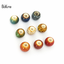 BoYuTe 50Pcs 6MM Handmade Ceramic Beads Wholesale Porcelain Diy Beads Jewelry Making