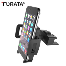 TURATA Car Phone Holder, CD Slot Mount Phone Holder for iphone 7 6S Plus Samsung Xiaomi Android 3.5-6'', GPS Suporte Movil Car