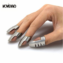 MOM'S HAND 4pcs/set Adjustable Stainless Steel Finger Hand Guard Finger Protector Knife Slice Chop Safe Slice Cooking Tools()