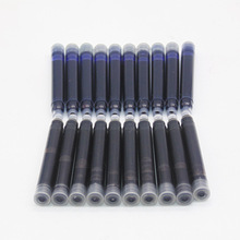 Wholesale Price 10PCS Disposable Blue and Black Fountain Pen Ink Cartridge Refills Length Fountain Pen Ink Cartridge Refills