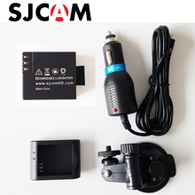 SJCAM Accessories Desktop Charger + Car Charger + Car suction cup bracket +Battery for SJCAM SJ4000 SJ5000 WIFI M10 PLUS SJ5000X