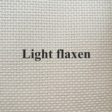 New arrival Light flaxen Aida cloth 14ct cross stitch fabric canvas DIY handmade embroidery stitches hand sewing craft supplies(China)