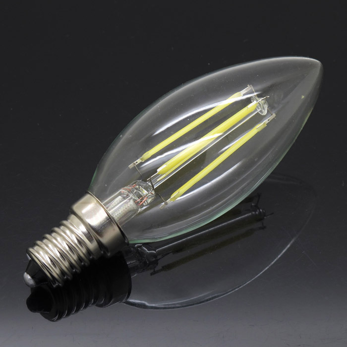 High Power Dimmable E14 8W LED Filament Bulb Candle AC 220V White/Warm White Indoor Light Lamps Equivalent Incandescent(China)