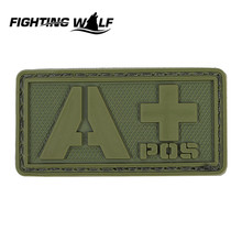 Tactical Military Airsoft Blood Types PVC Rubber Badge Patch Outdoor CS Field  Wargame Equipment fit For Outdoor Team Sport