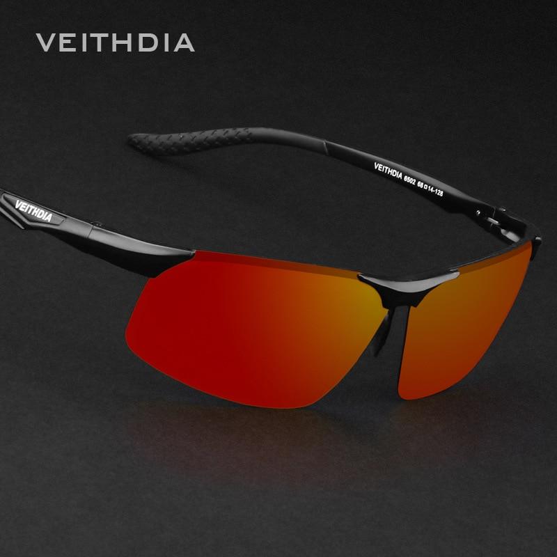 Sunglasses Men Aviator Polarized Sun Glasses Aluminum Zonnebril Tinize Designer Sunglass Uv400 Oculos Gafas Sol Veithdia 6502-1<br><br>Aliexpress