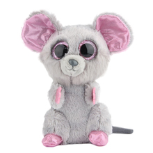 Ty Beanie Boos Original Big Eyes Plush Toy Doll 10 - 15cm Gray Mouse TY Baby For Kids Brithday Gifts