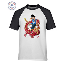 2017 Tops Unisex Goku Ride Red Dragon Design Cotton T Shirt for men