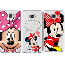 Cute Cartoon Funny mickey Minnie Emoji Phone Cases Cover For Samsung Galaxy A3 A5 A7 2017 J3 J5 J7 2016 S5 S6 S7 Edge S8 Plus(China)