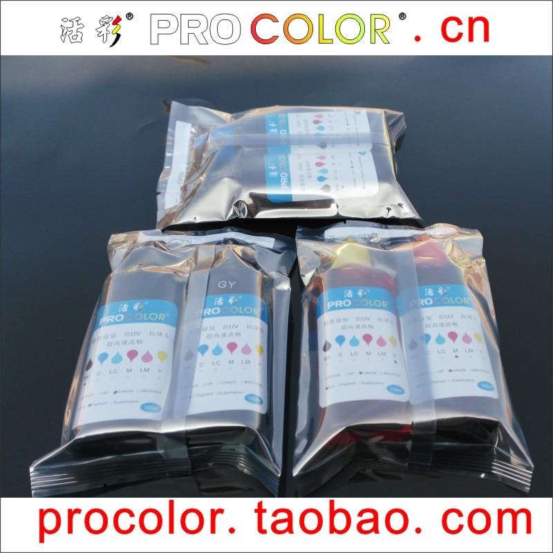 6 COLOR 850 PGI-850 PGI850 Pigment ink 851 CLI-851XL BK C M Y GY Dye ink refill kit for Canon PIXMA MG6380 MG7180 inkjet printer<br>
